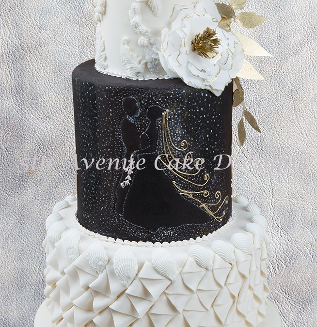 How to Design A Black and White Wedding Cake
