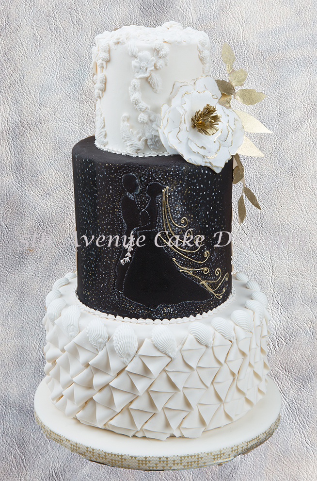 black and white wedding cakes designs how to design a black and white wedding cake 11849