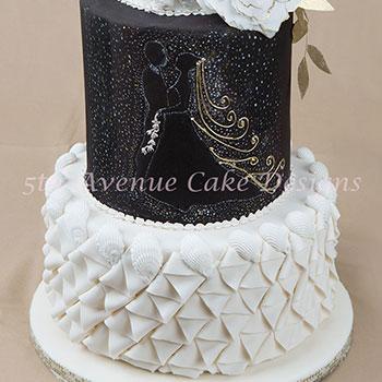 black n white cake