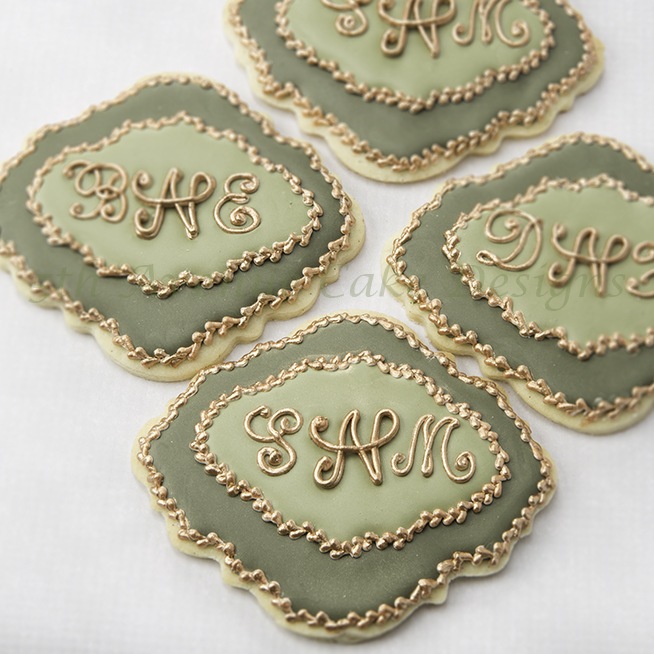 Monogram transfer cookies