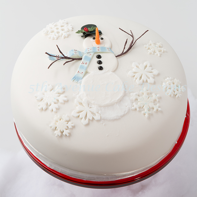 Inspired Frosty the Snowman Cake Art Lesson