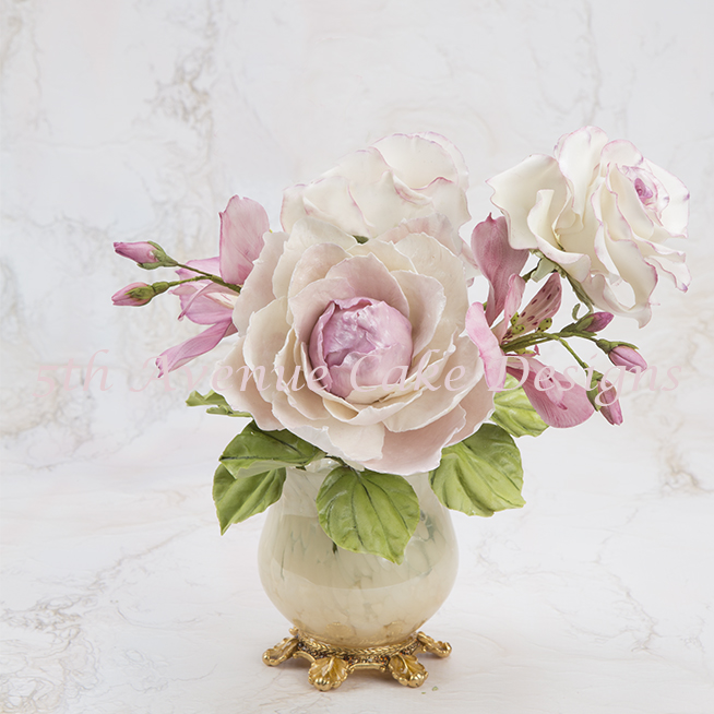 Flower paste peony spray