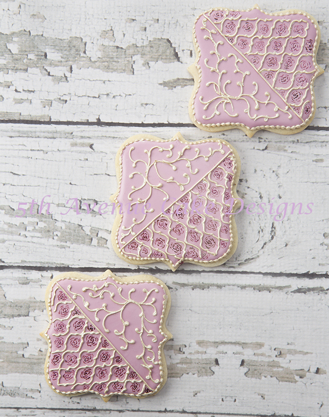 Arabesque hand painted cookie
