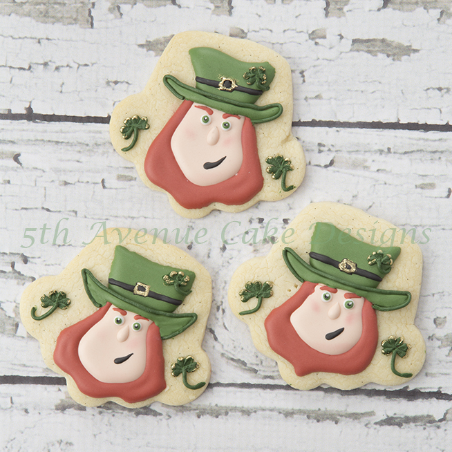 Royal icing Leprechaun cookies