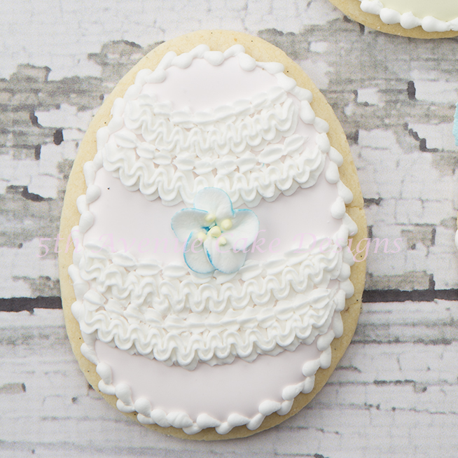 Easter ruffle cookie