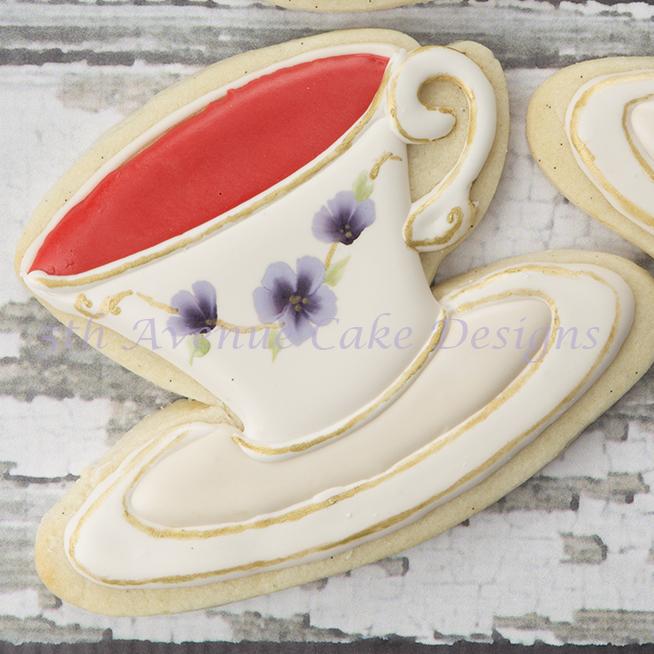 inspired wedgwood teacup cookies