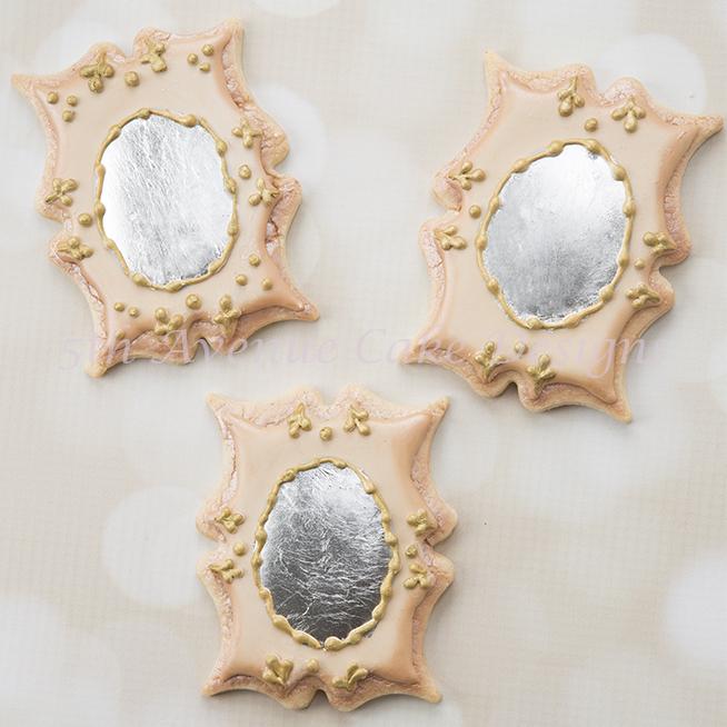 Vintage mirror cookies