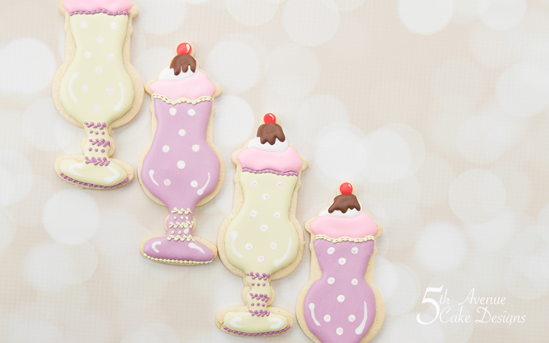 Retro Ice Cream Parfait- Sundae Cookie Art Lesson 🥄🍨
