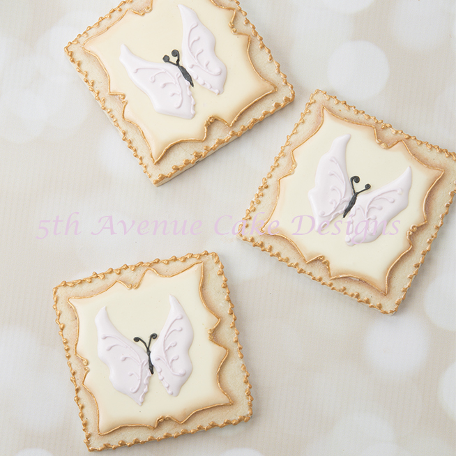 Butterfly Cookies with Filigree