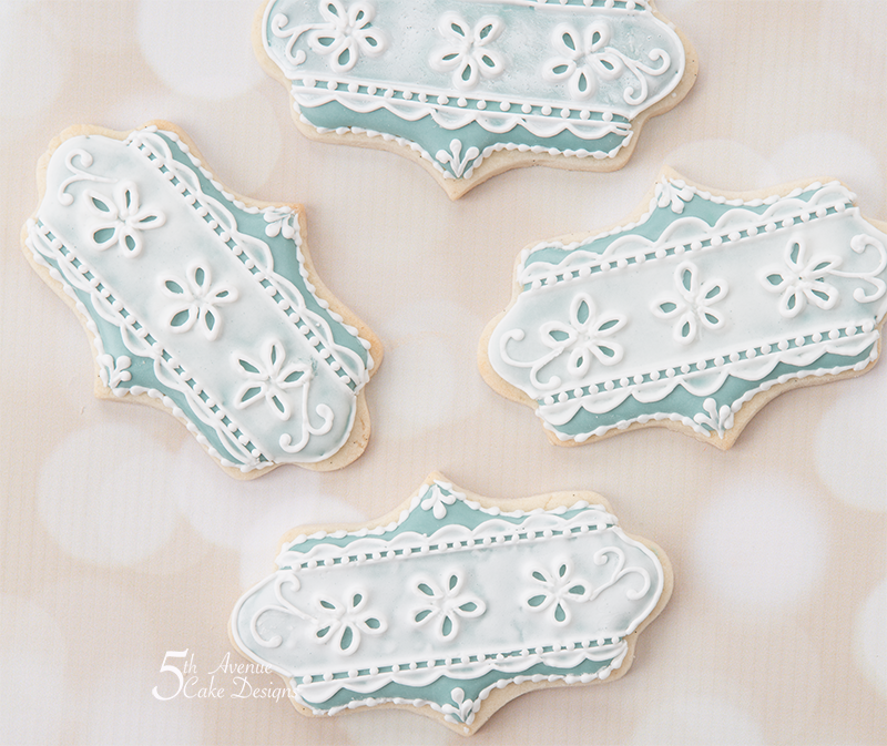 Romantic Royal Icing Eyelet Lace Cookies Art Lesson 🎩💐💍