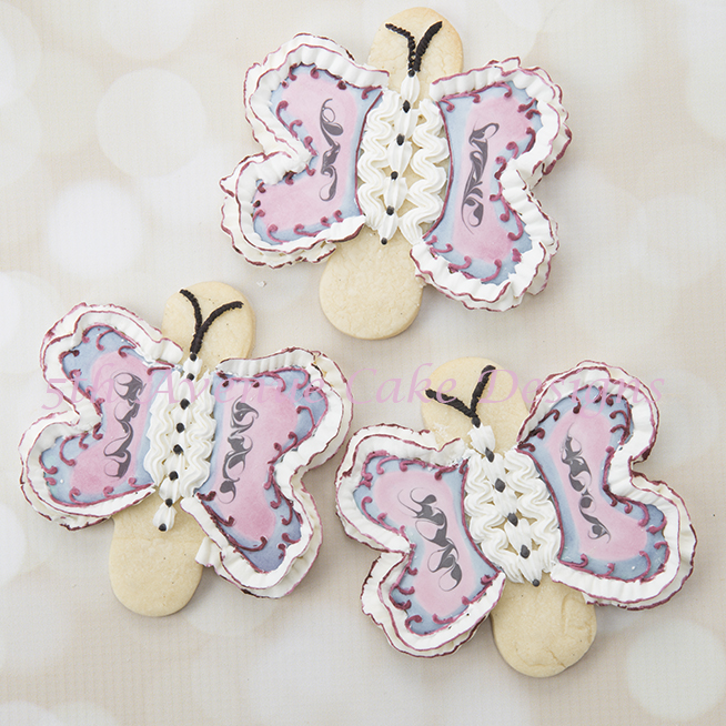 Butterfly Cookies (and how to repurposing a 6-Petal Cutter)