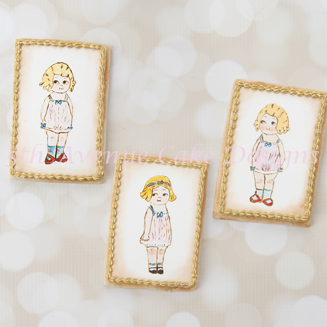 Adorable inspired Dolly Dingle Cookies