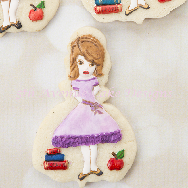 Hand Painted Back to School Teacher Cookies