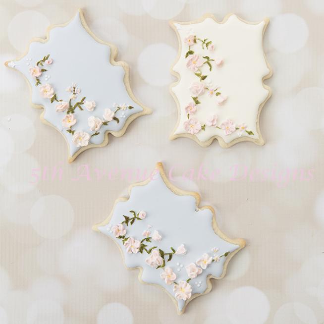 Vintage floral swag cookies