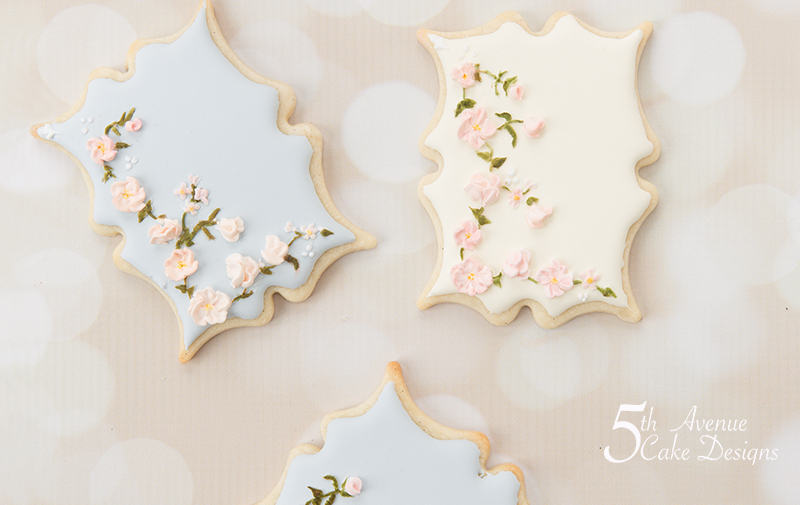 Vintage Floral Corner Swag Cookie Art Lesson 🌹🌸🌱