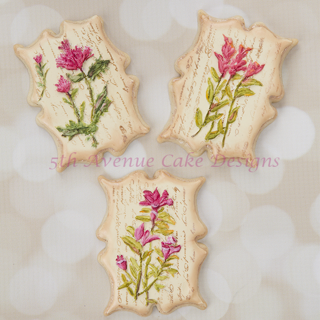 Vintage Dimensional Wildflower Cookies