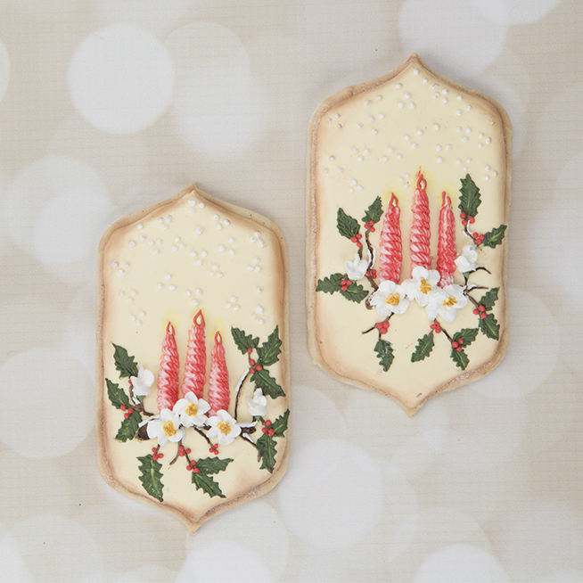 Inspired Advent Candle Cookies