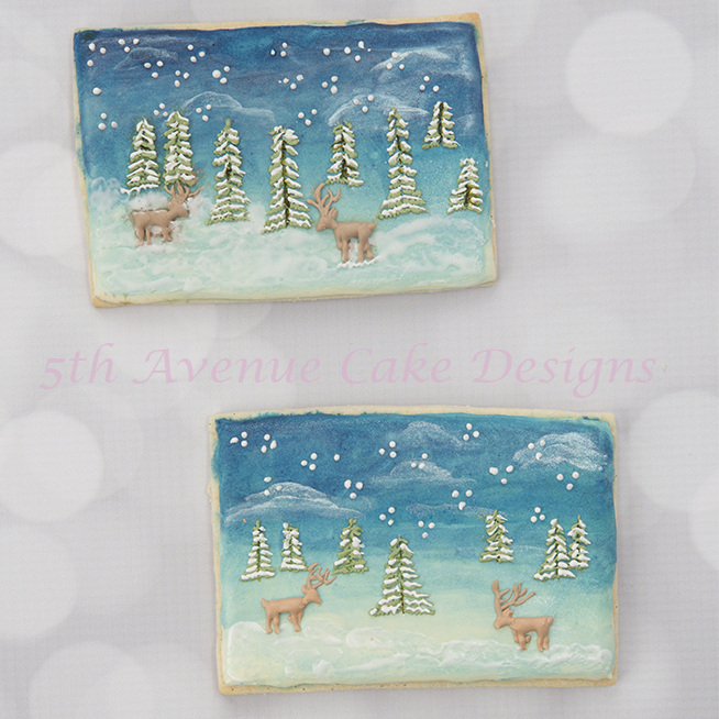 Christmas Scenery Cookies