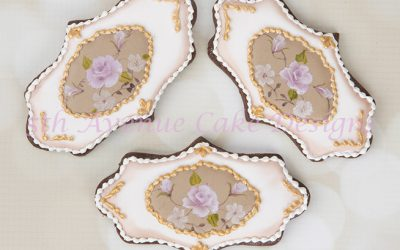 Hand Painted Inspired Vintage Limoges China Rose Cookies