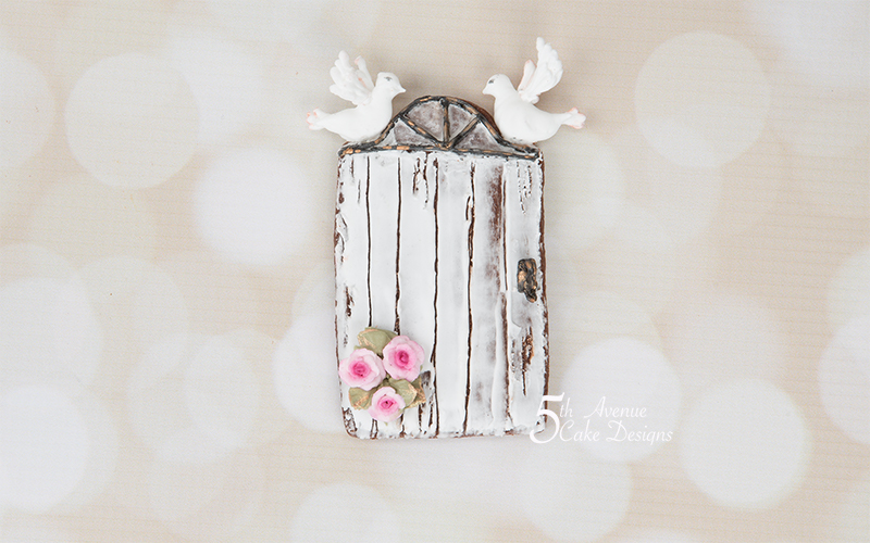 Rustic Door with Wood Grain Royal Icing Cookie Art Lesson 🌹🕊️❣️