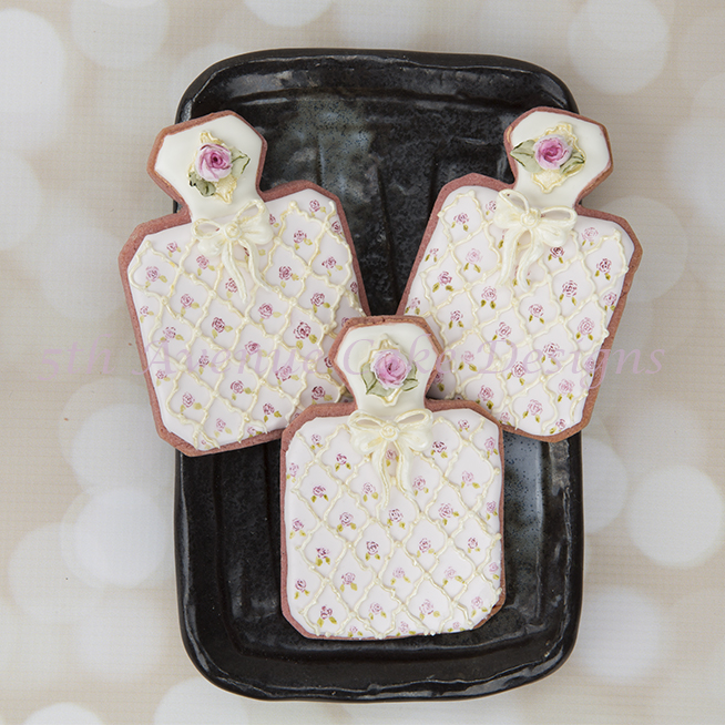 Perfume Bottle Cookies Art Lesson  🎀🌹🥰