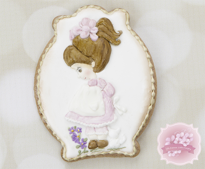 Vintage Dimensional Doll Cookie Art Lesson 🎀🖌️👧🏻
