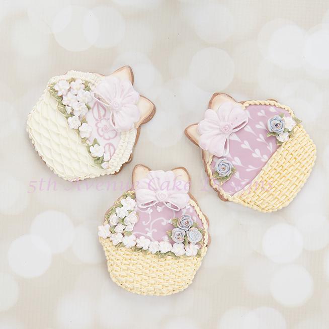 Spring Floral Basket Cookies