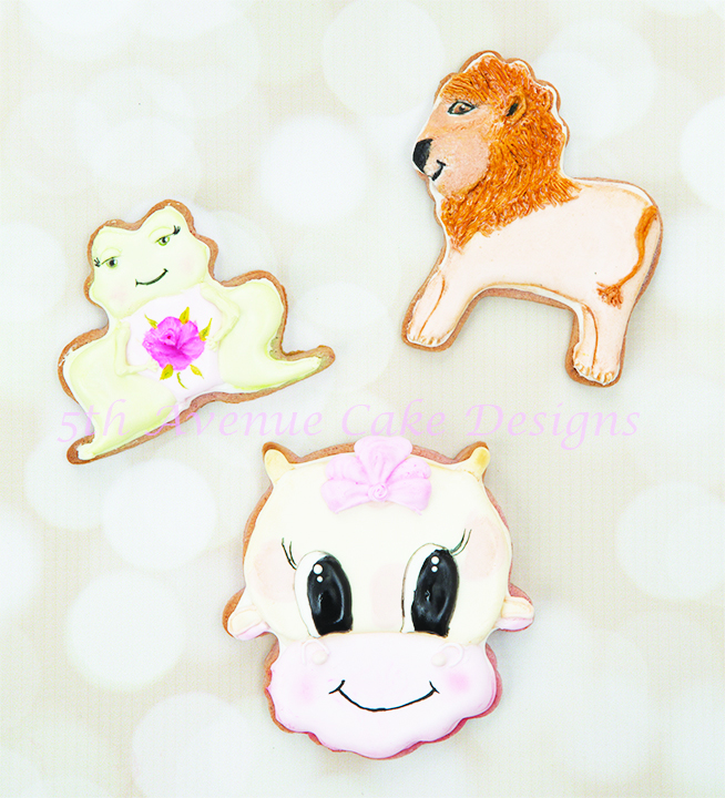 Decorated Animal Baby Shower Cookies ????