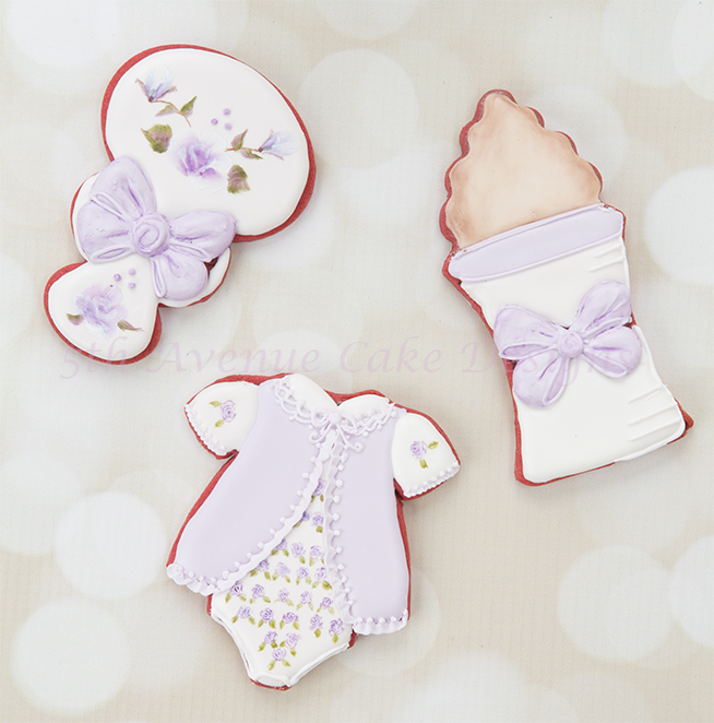 Baby Girl Shower Cookies