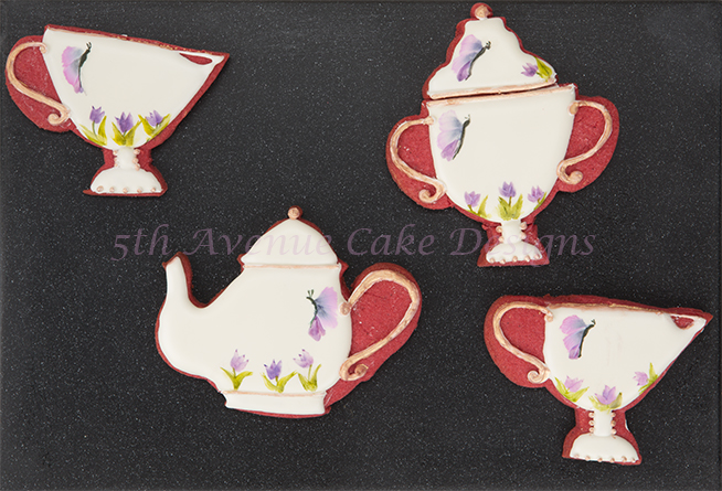 Hand Painted Tea Set Cookies