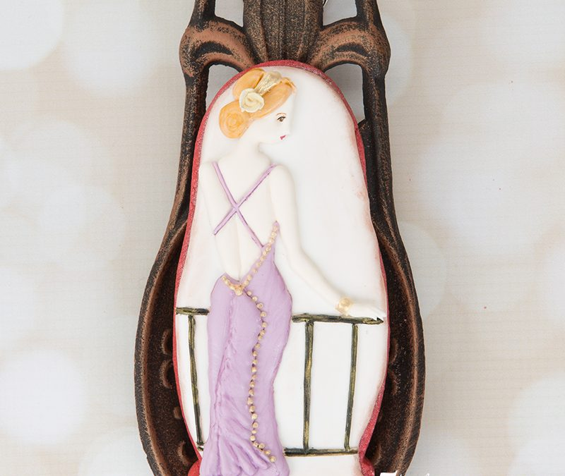 Art Deco Lady Cookie 👗👠🌸