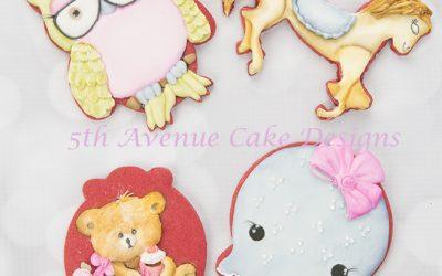 Royal Icing Delightful Animal Cookies 🦉🐻🐙🎠