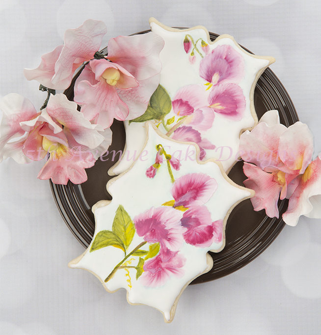 Hand Painted Sweet Pea Cookies