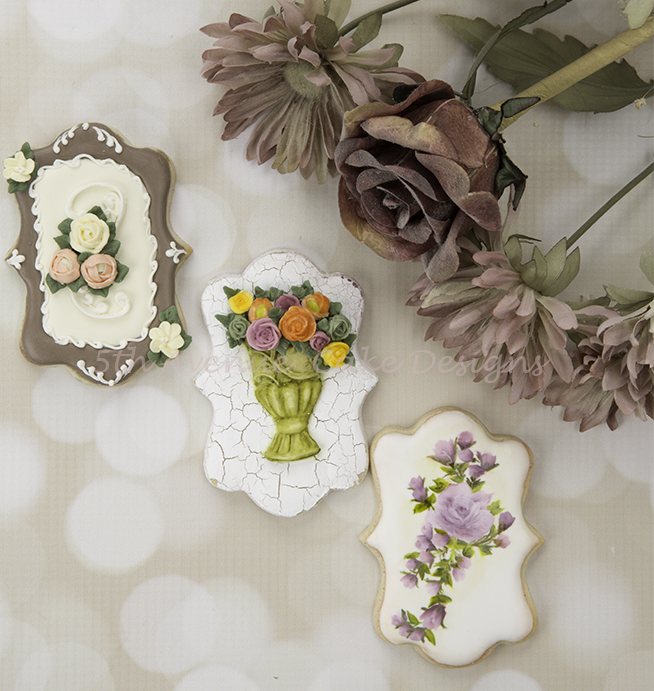 Autumn Floral Spray Cookies