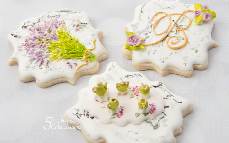 5ᵗʰ Dimensional Stone Marble Cookie Art 🍵🌿💐