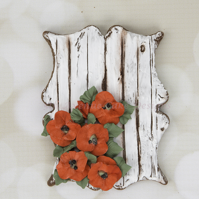 Rustic Wood Plank Poppy Cookies