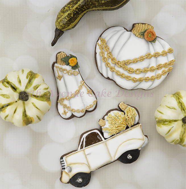decorated Vintage Autumn Cookies