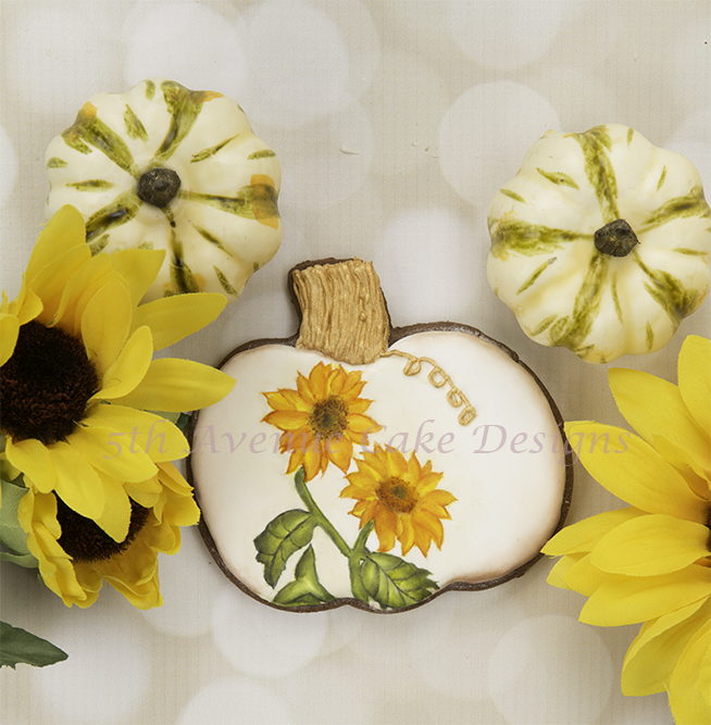 Hand Painted Sunflower Cookie