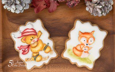 Festive Animal Cookie Art Lesson 🐻🦊👶