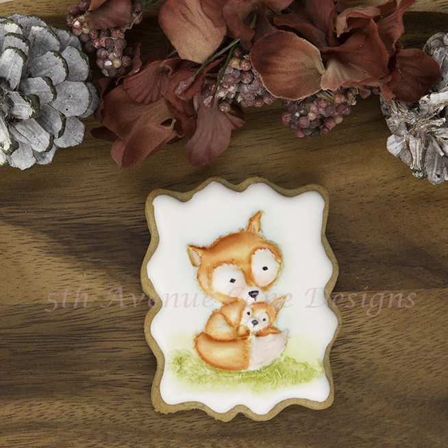 Mommy and Baby Foxes Cookies