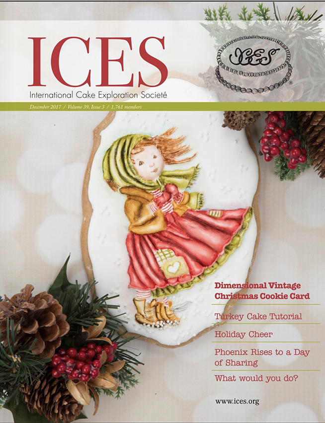Featured Vintage Christmas Card Cookie in ICES