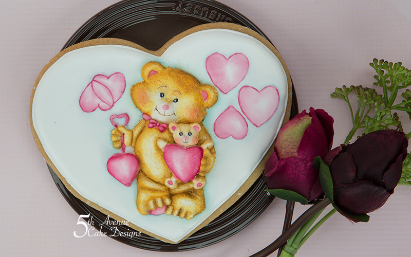 I Love You Beary Much Cookie Art Lesson 🐻 💕💝