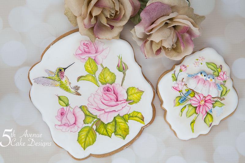 Beautiful Floral Bird Cookies