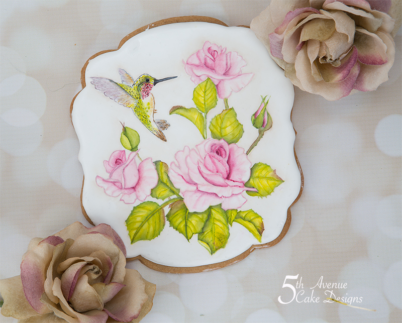 Beautiful Floral Bird Cookie