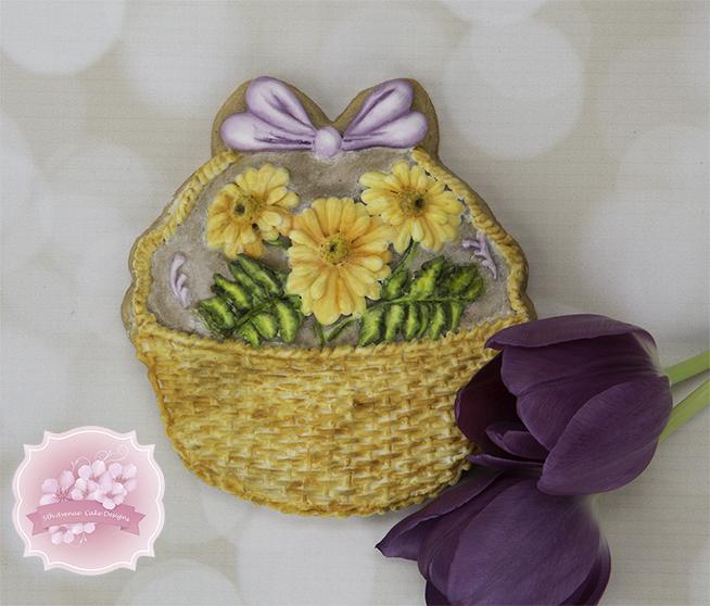 Dimensional Basket of Daisies for Mum Cookies