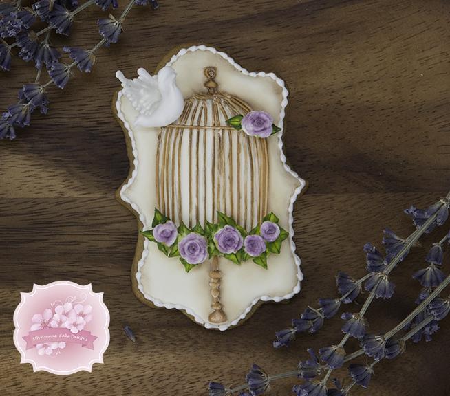 Vintage Royal Icing Birdcage Cookies