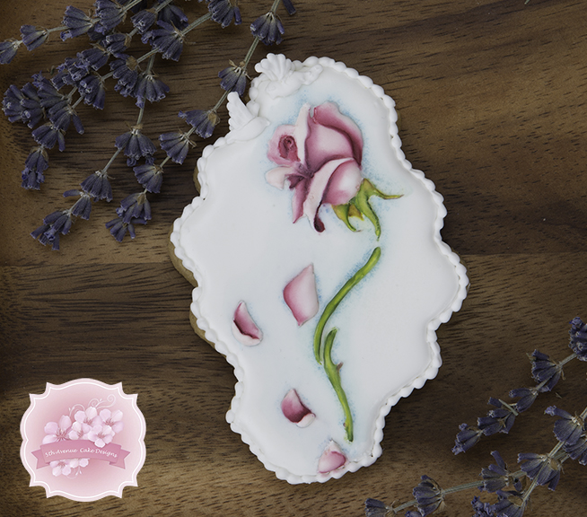 Inspire Beauty and Beast Dimensional Rose Cookie