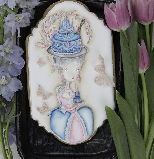 Dimensional  Marie Antoinette Costume Cookie 👏🎂👸