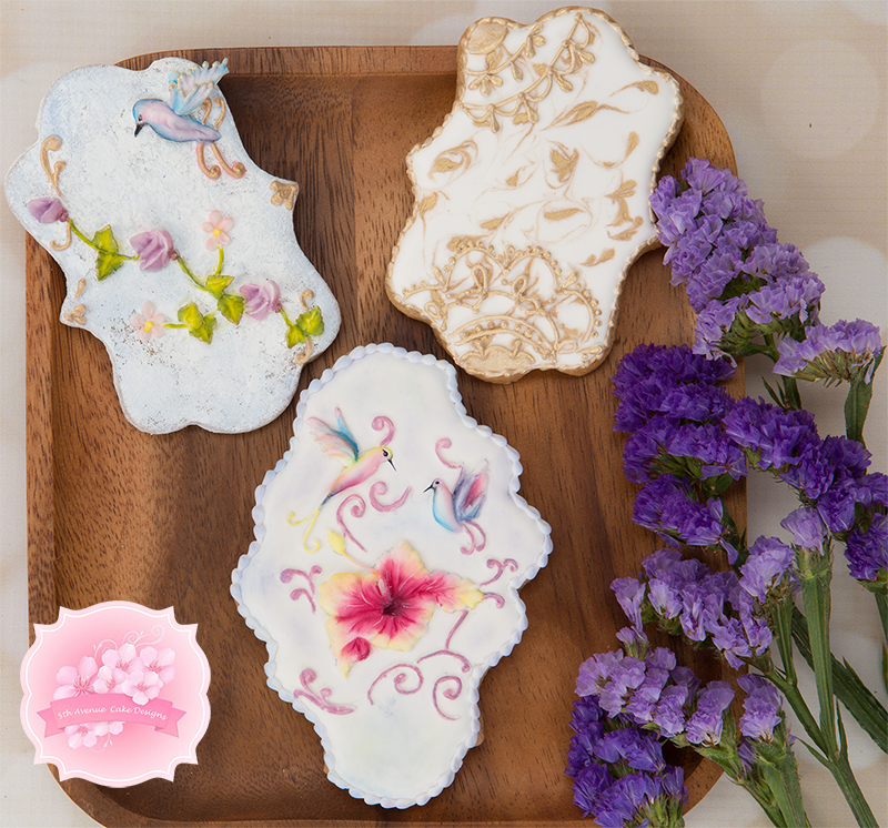 Alluring Flowers with stunning background cookies