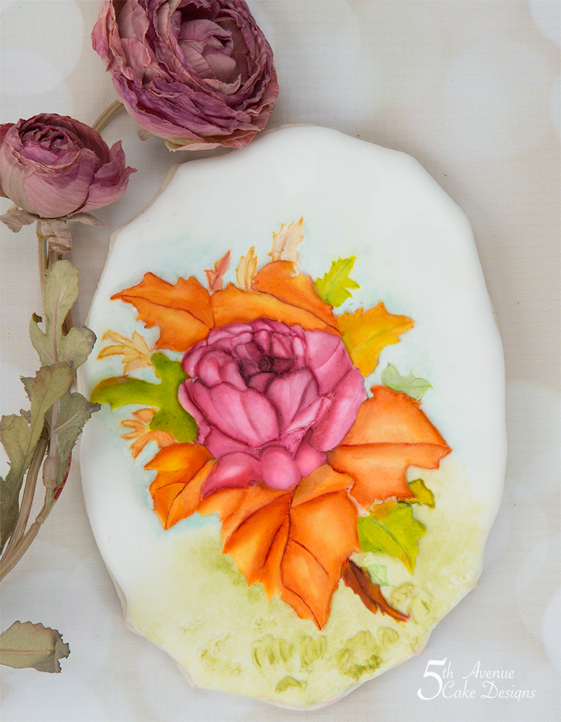 Autumn Rose spray Cookie